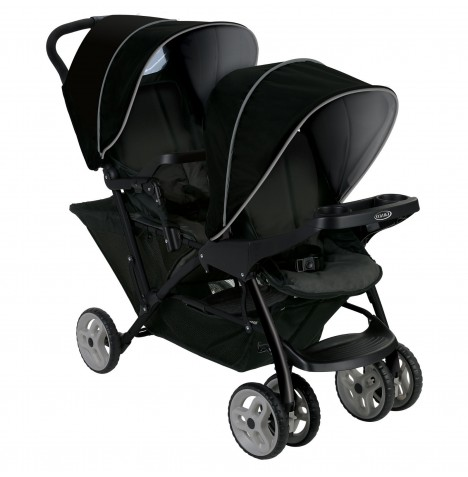 Graco Stadium Duo Tandem Pushchair - Black / Grey